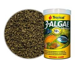 Tropical Professional Line 3-Algae Granulat 100ml/38gr - mangime con alghe per pesci d'acqua dolce e marini