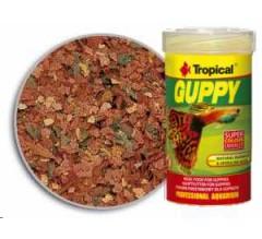 Tropical Premium Line Guppy Flakes 100ml/20gr mangime di base per Guppy, con sale marino