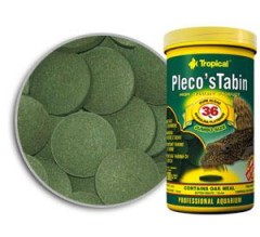 Tropical Compresse da Fondo Pleco's Tabin 50ml/30gr Professional Line - mangime con spirulina e legno di quercia per specie grandi di Loricaridi